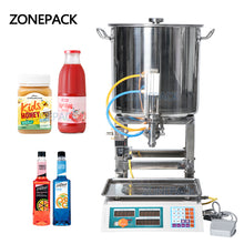 ZONEPACK Semi Automatic Paste Filling Machines Pneumatic Can Honey Cooking Oil Beverage Small Bottle Weighing Filling Machine