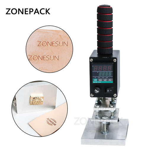 ZONEPACK 5x7cm 8x10cm 10x13cm 500W Hot Stamping Tool, Manual Logo Embosser, Wood Leather Book Branding Iron