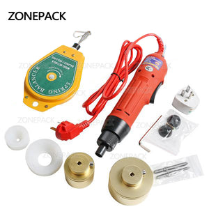 ZONEPACK Manual Electric Bottle Capping Machine, Capping Diameter 10 - 50mm,Handheld Cap Sealer, Sealing Machine, Bottle Capper Sealer Screwing Sealing Machine (110V)