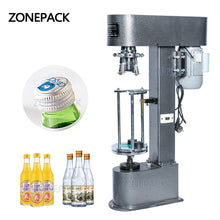 ZONEPACK Wine ROPP Bottle Cap Crimping Machine Semi-automatic Metal Cap Crimper Aluminum Cap Lock
