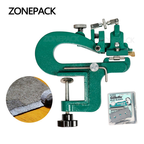 ZONEPACK Leather Paring Device Kid Manual Leather Skiver Hand Skiving Machine Leather Splitter Vegetable Tanned Peeler Peel Tools
