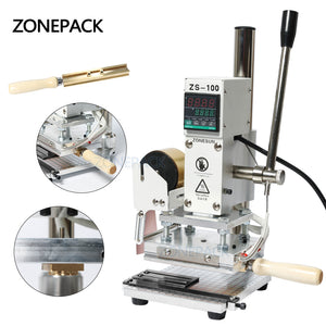 ZONEPACK ZS-100 Dual Purpose Hot Foil Stamping Machine Manual Bronzing Machine for PVC Card leather and paper stamping machine
