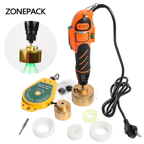 ZONEPACK 28-32mm Plastic Bottle Capper 110/220V Hand Held Bottle Capping Tool 10-50mm Cap Screw Capping Machine Manual Capper