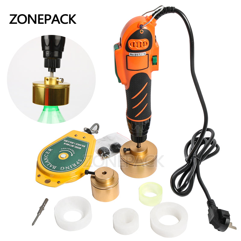 ZONEPACK 160W 28-32mm Plastic Bottle Capper 110/220V Hand Held Bottle Capping Tool 10-50mm Cap Screw Capping Machine Manual Capper