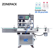 ZONEPACK Peristaltic Pump Filling Machine Aerosol Soda Beverage Wine Drink Perfume Bottle Water Automatic Packing Making Machines