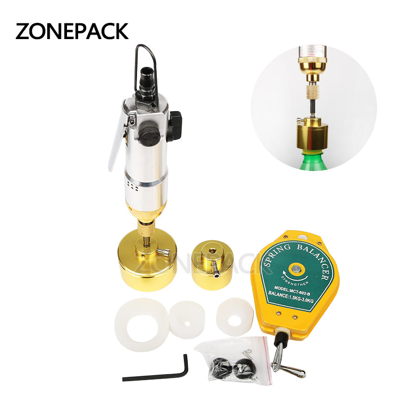 ZONEPACK Pneumatic Bottle Capping Machine Hand Held Screwing Capping Machine Manual Capping Machine Bottle Capper Tool