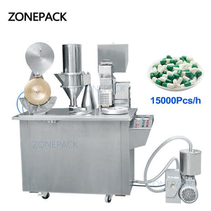 ZONEPACK Gelatin Njp Commerical Herbal Espresso Medical Nespresso Semi Automatic Capsule Filling Machine For Powder