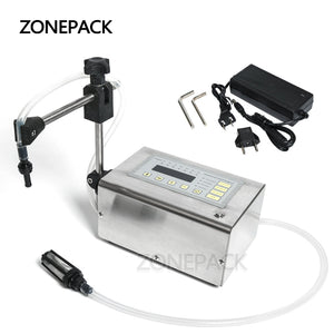 ZONEPACK Electrical Liquid Filling Machine GFK-180 Mini Small Bottle Water Digital Pump Perfume Drink Milk Olive Oil 110V 220V Filler