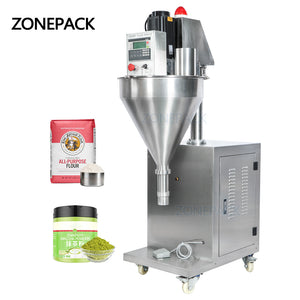 ZONEPACK ZS-FM2000 Auger Talcum Glass Vial Vertical Spice Plastic China Bottle Sachet Powder Filling Machinery Grain Automatic