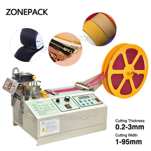 ZONEPACK Hot and cold Electrical automatic Mask rope cutting machine nose bridge ear belt rope Nylon Tapes cutting machine