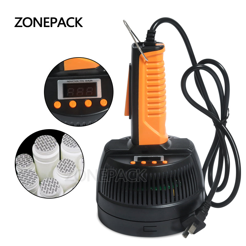 ZONEPACK Hand Held Electromagnetic Induction Sealer Microcomputer Bottle Sealing Machine Aluminum Foil Medical Plastic Capper
