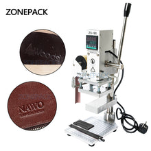 ZONEPACK Two Work Plate Hot Foil Stamping Machine Manual Bronzing Machine for PVC Card leather and paper stamping machine