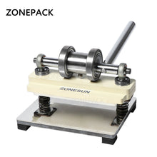 ZONEPACK Manual Leather Die Cutting Machine Handmade Earring Die Cuts Pressing Machine For Punching Clicker Die Steel Rule Die