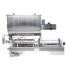 ZONEPACK Chili Soy Oyster Sauce Tabasco Quantitative Filler Machine Pneumatic Slurry Mixing Filling Machine
