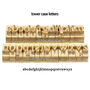 custom link for Times New Roman Lower Case Brass Letter
