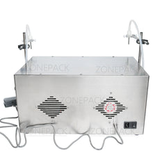 ZONEPACK 2 Heads Perfume Water Juice Essential Oil Electric Digital Control Peristaltic Pump Liquid Filling Machine 3-2500ml