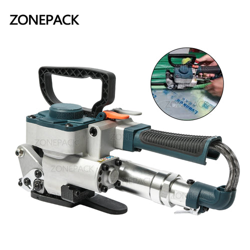 ZONEPACK Pneumatic Friction Welding Baler Strapping Machine Air PET Banding Machine Tool For 13-19mm Width PET Straps