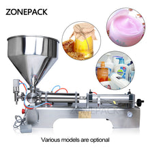 ZONEPACK Many Filling Range Pneumatic Volumetric Soft drinks Liquid Filling Machine Oil Water Juice Honey Soap Cream Paste Filler