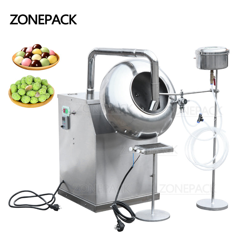 ZONEPACK BY-300 Peanut Chocolate Sugar Coating Machine Stainless Steel Candy Coater Machine