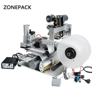 ZONEPACK LT-60D Flat Labeling Machine Semi Automatic Drugs Bottle Labeling Medicine Bottle Labeling Machine With Date Coding