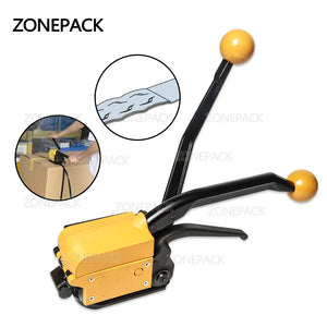 ZONEPACK A333 Steel Strapping Tool Steel Straps Banding Sealless Combination Tool Mental Strapping Bander 1/2Inch to 3/4Inch (13mm -19mm)