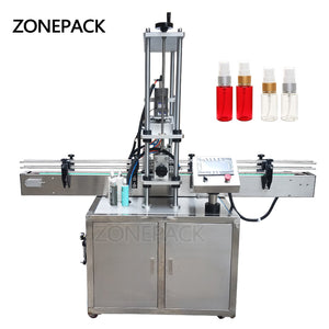 ZONEPACK Automatic Electric Screw Bottle Plastic Glass Water Juice Honey Small Washing Dropper Spout Pouch Capping Machine