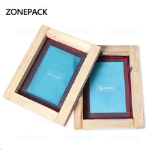 ZONEPACK Custom Printing Wood Frame Silk Print Polyester Mesh High Precision Circuit Boards For Metal Cloth Grass T-shit Printing