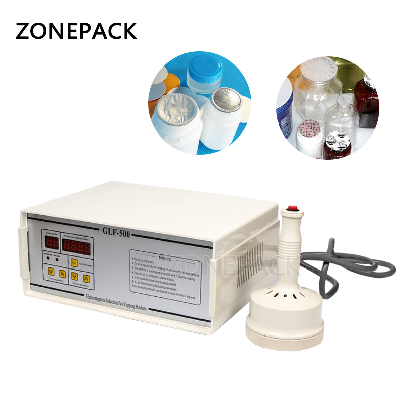 ZONEPACK New Model GLF-500 Portable and Continuous Induction Sealer Hand Held manual Capping Machine Sealing Diameter 20-100mm