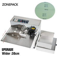 ZONEPACK Printing Machine 3-30cm My-380F Produce Solid Ink Roll Coding Card Bag Continuous Date Printer Machine