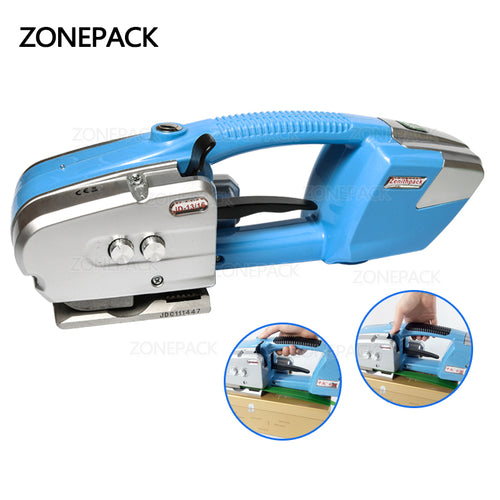 ZONEPACK Battery Powered Plastic Strapping Tool for PET and PP Electric Plastic Strapping machine PET baler Strapping width 0.5