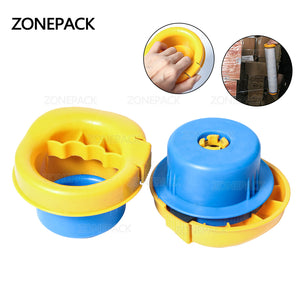 ZONEPACK Small Hand Stretch PVC Cling Film Wrap Dispenser With Brake Function Food Wrap Pallet Film Tool For Factory Packing