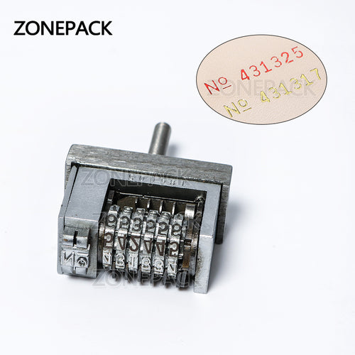ZONEPACK Manual Hot Stamping Printer Accessory Thermal Ribbon Dialing Coding Tool Parts Production Number Coupon Print