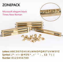 ZONEPACK Brass Letters CNC Engraving Mold Hot Foil Stamp Number Alphabet DIY Die Cut Leather Stamp Mold Symbol Customized Font