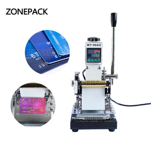 ZONEPACK Best Quality 220V/110V Manual Hot Foil Stamping Machine Card Tipper Embossing Machine For ID PVC Cards