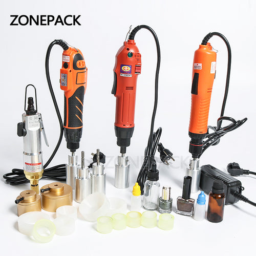ZONEPACK Optional Mix Up Capping Machine Portable Automatic Electric With Security Ring Bottle Capper Screwing Sealing Machine