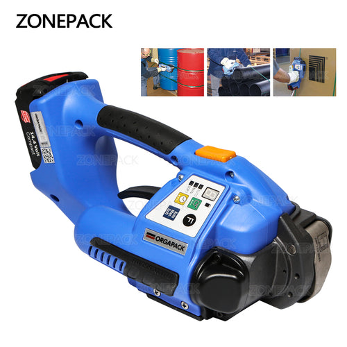 ZONEPACK Strapping Machine 110v or 220v ORT 250 Battery Powered Plastic Strapping Tool Machine