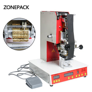 ZONEPACK Rolling Ribbon Printer Electric Hot Thermal Printing Machine Number Turning Printer Expiration Code Printer Date Number Printer