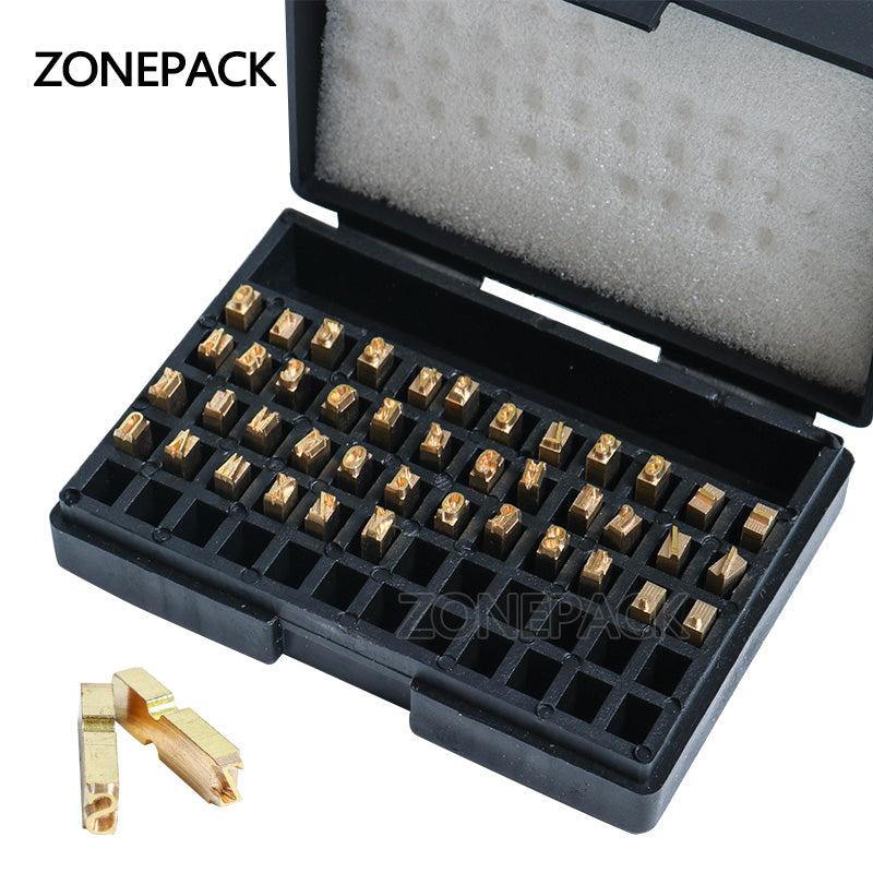 ZONEPACK A-Z 0-9 Character Letter Number Hot Letter For Code Ribbon Date Printing Machine for MY-380,ZY-RM5 and ZY-RM5-E