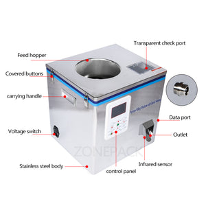 ZONEPACK Tea Filling Machine 1-32g Filling Range Automatic Weighing Machine Powder Filler