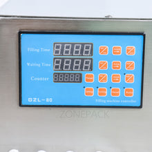 ZONEPACK 8 head Electric Digital Control Pump Liquid Filling Machine 0.5-4000ml For Liquid Perfume Water Juice Essential Oil