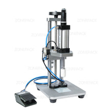 ZONEPACK Pneumatic Perfume Glass Bottle Capping Machine Desktop Perfume Collar Small Bottle Crimping Pressing Machine