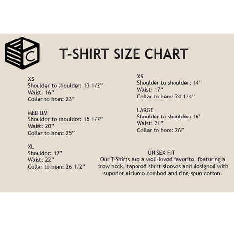 Top Crate Tees Size Chart