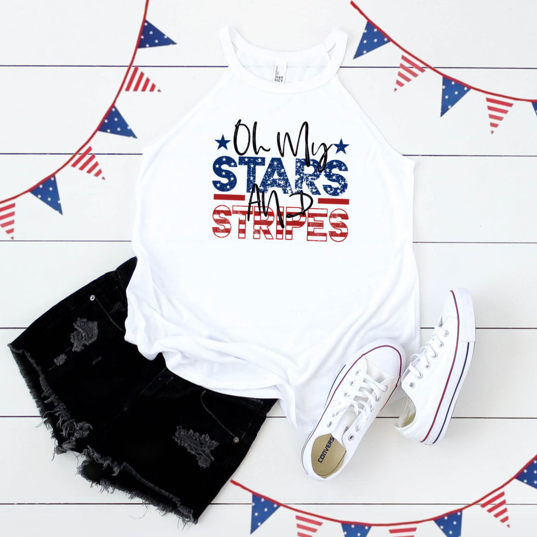 Oh my Stars and Stripes- Rocker Tank Top