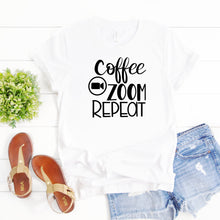 Social Distancing Shirt-Coffee Zoom Repeat