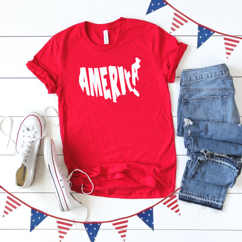 4th of July Graphic T_Shirt! America!
