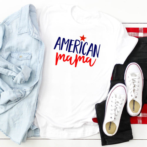 American Mama Red & Blue White Star-Plus Sizes