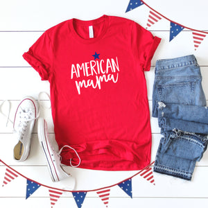 4th of July Graphic T_Shirt! American Mama!