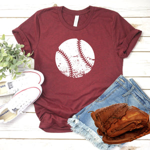 Distressed White Baseball-Plus Sizes