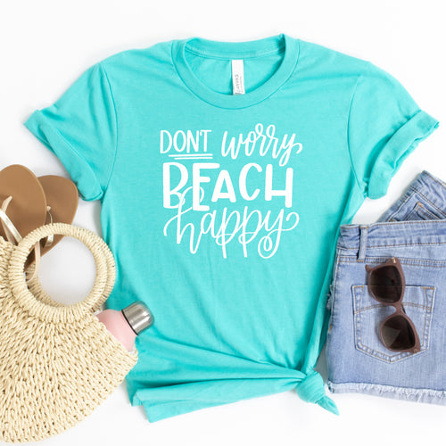 Don't Worry Beach Happy (White)-Plus Sizes