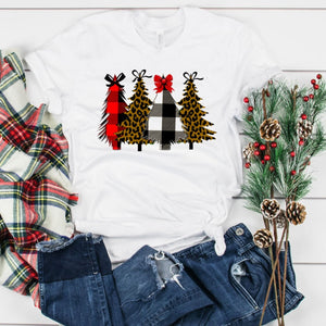 Christmas Trees With Bows-Plus Sizes